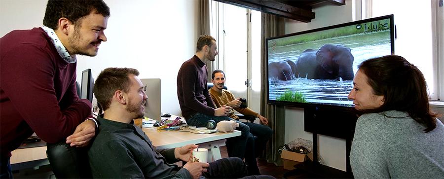écran interactif vidéo 4K