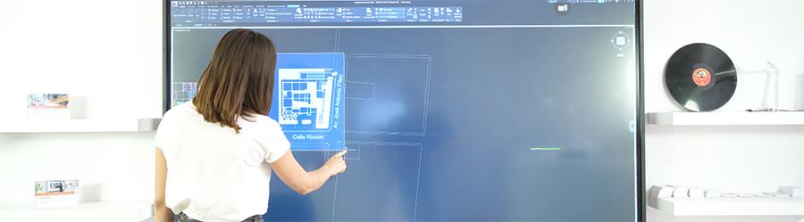 Utilisation du logiciel Autocad sur l'écran itneractif SuperGlass SpeechiTouch