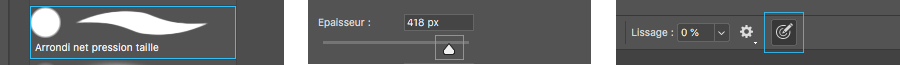 Utiliser la pression de l'écran capacitif SpeechiTouch pour modifier la taille des pinceaux sur Photoshop