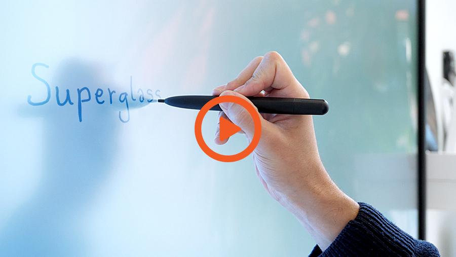 la vidéo d\'utilisation de l\'écran interactif SuperGlass Haute Précision SuperGlass