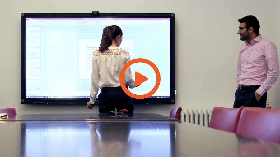 la vidéo de l\'interview du cabinet d\'avocats Claisse & Associés sur écran interactif