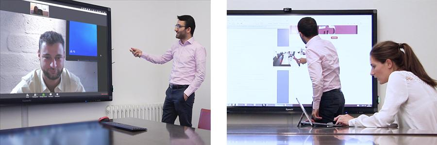la visioconférence sur écran interactif