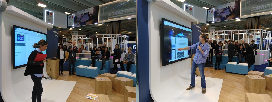 l'écran interactif du stand éducation national au salon éducatice