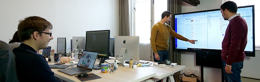 ecran interactif en entreprise