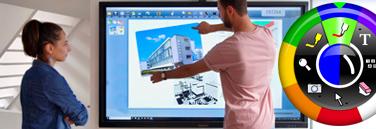 écran interactif multi touch avec logiciel eBeam