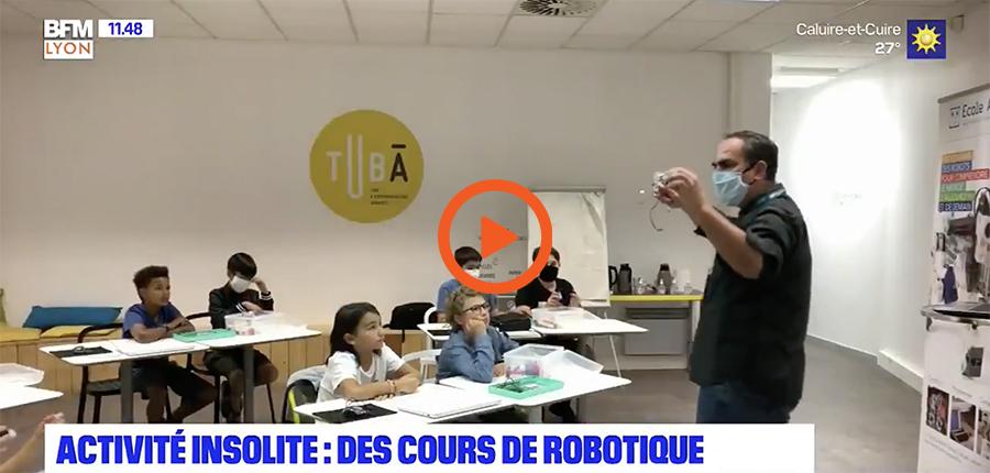 reportage école de programmation Algora Lyon sur BFMTV