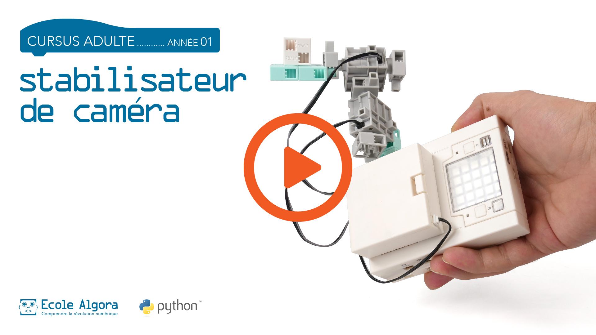 vidéo du robot programmé en Python dans le cours adulte n°6