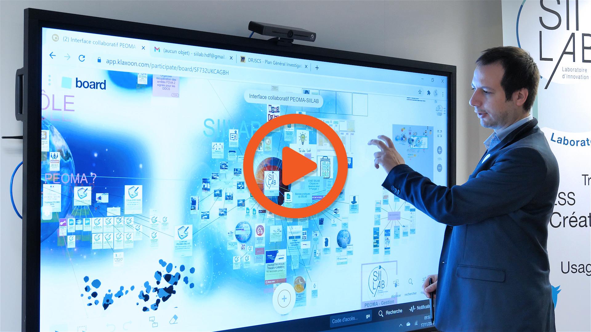 écran interactif entreprise vidéo