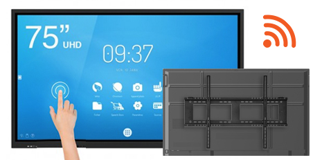 Pack Support mural ecran interactif Android WiFi 75