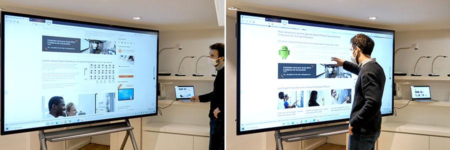 partager son écran d'ordinateur sur écran interactif tactile via usb