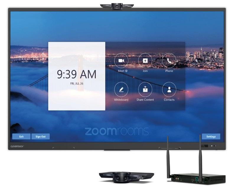 Offre Zoom Rooms avec écran interactif Clevertouch
