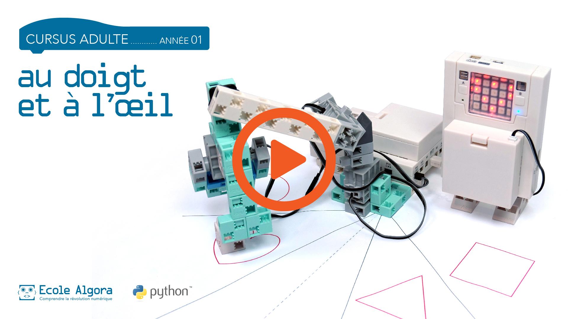 vidéo du robot du cours 8 de programmation en Python