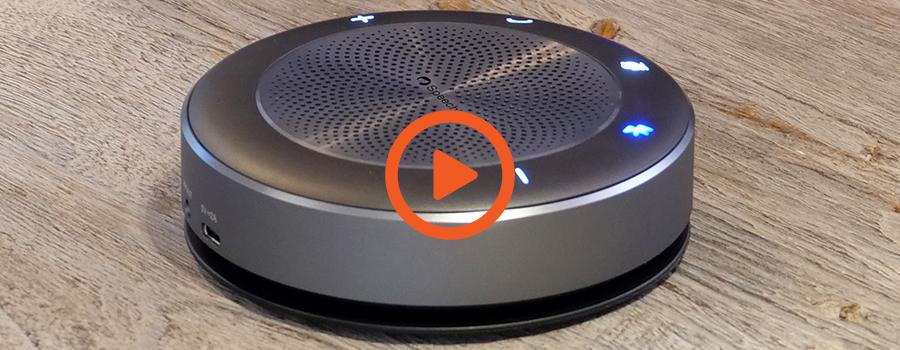 Vidéo enceinte micro bluetooth Speechi SPE-BM21 sans fil pour visioconférence