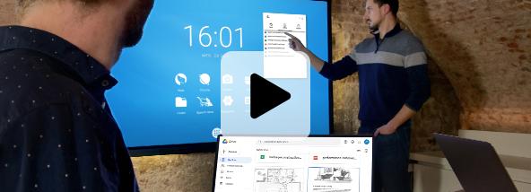 cloud écran interactif partager son travail