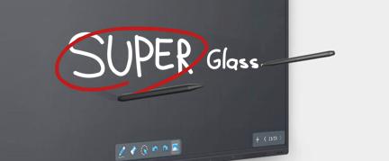 écran interactif superglass réactivité