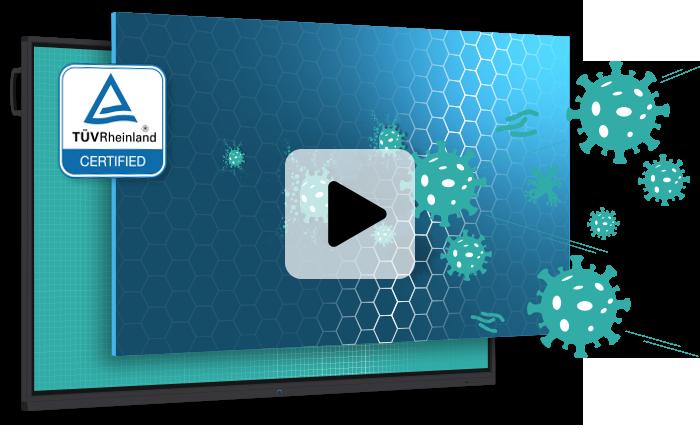 écran interactif travail sécurisé anti germes