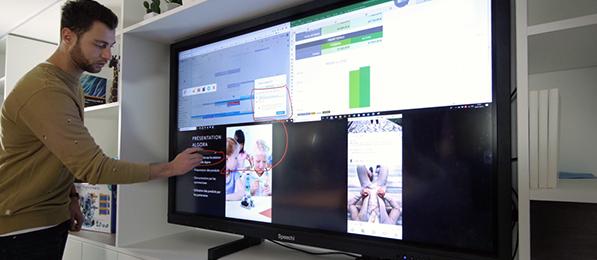 byod projeter 4 appareils écran interactif