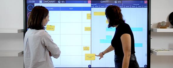 multi utilisateurs logiciel gantt tableau blanc interactif