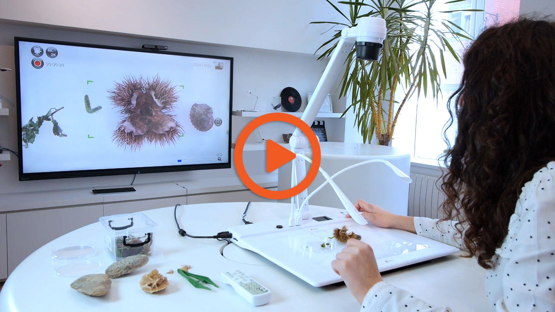 visualiseur de bureau SPE-VI-801 sur écran interactif