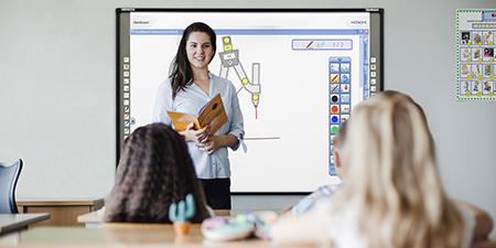 tableau blanc interactif salle de classe