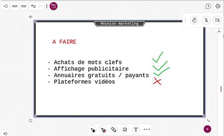 tableau blanc interactif virtuel travail collaboratif