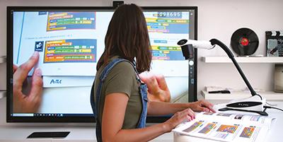 visualiseur 4k écran interactif