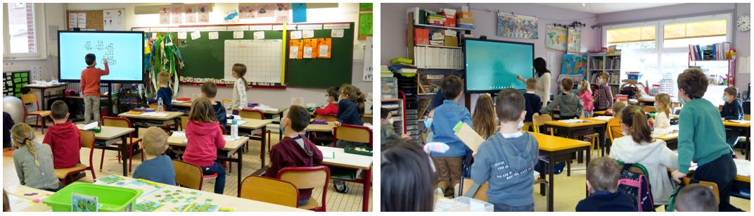 digitaliser l'école élémentaire avec un écran interactif