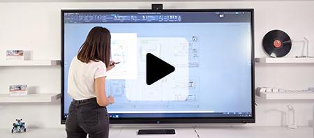 écran interactif capacitif visioconférence