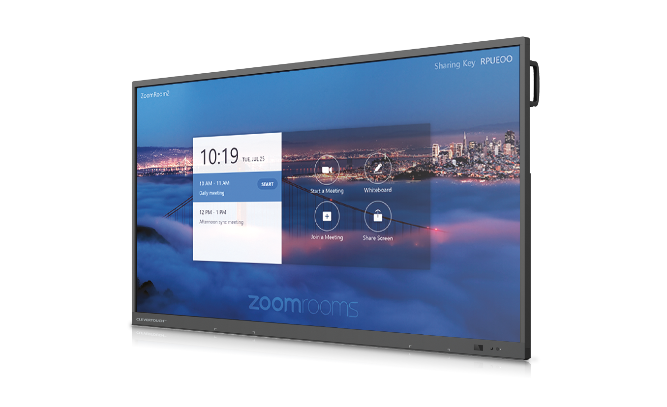 écran interactif uhd travail collaboratif zoom room