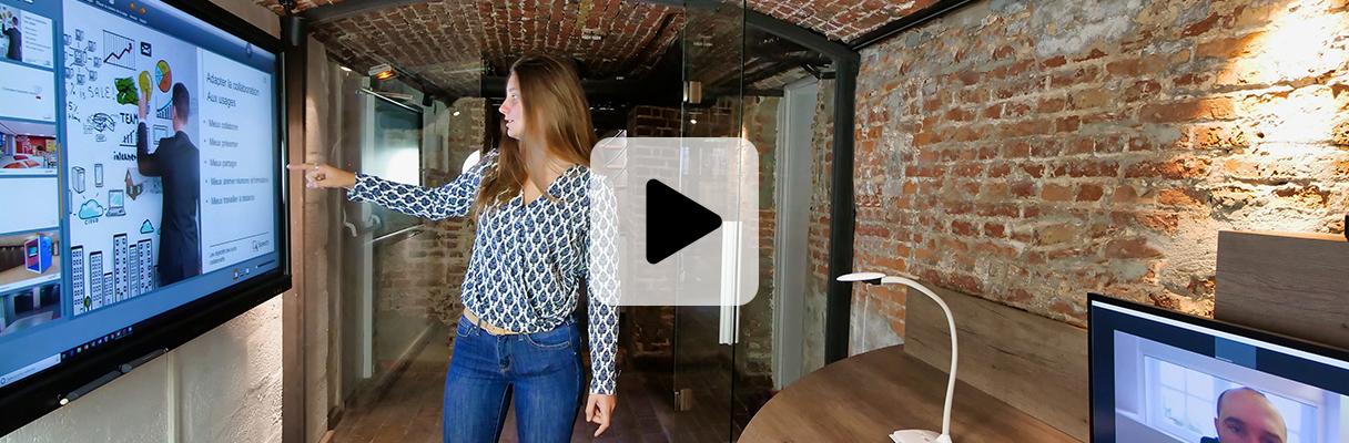 huddle room écran interactif formation
