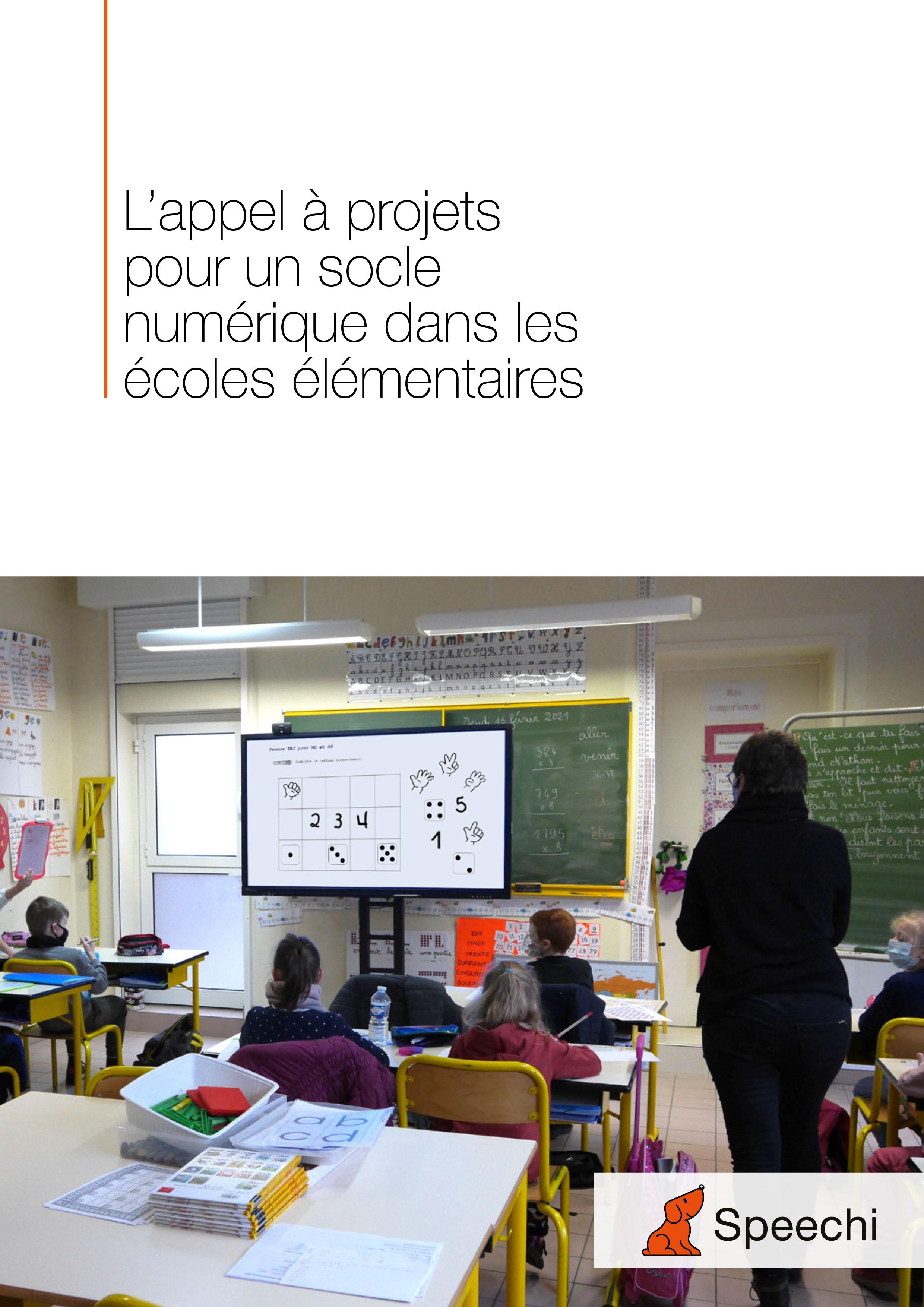 Livre blanc pour socle numérique des écoles élémentaires