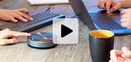 le micro haut-parleur pour les réunions des équipes en travail hybride