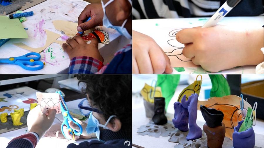 arts créatifs du stage vacances enfant L'Aquarium Magique pour apprendre la programmation