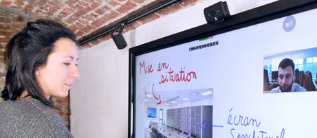 webcam visioconférence écran interactif
