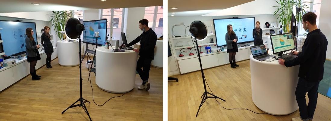 Un webinar robotique animé par le Rectorat de Lille depuis notre showroom