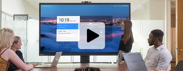 écran interactif zoom room réunion à distance