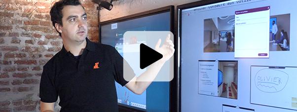 formation à distance écran tactile