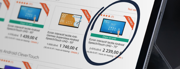 prêt solution interactive collaborative écran tbi