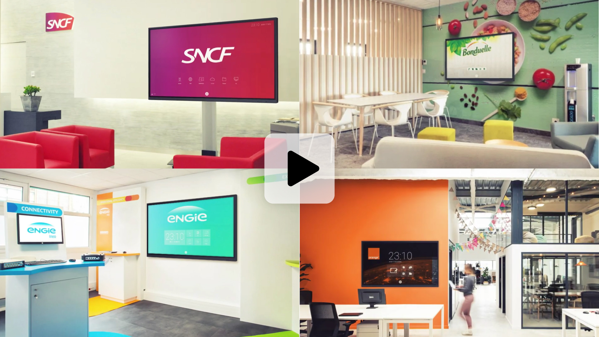 vidéo sur écran interactif personnalisé