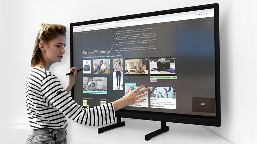 support écran interactif SuperGlass 55