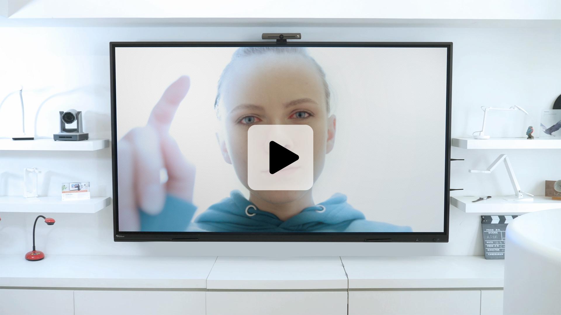 luminosité adaptée sur écran interactif