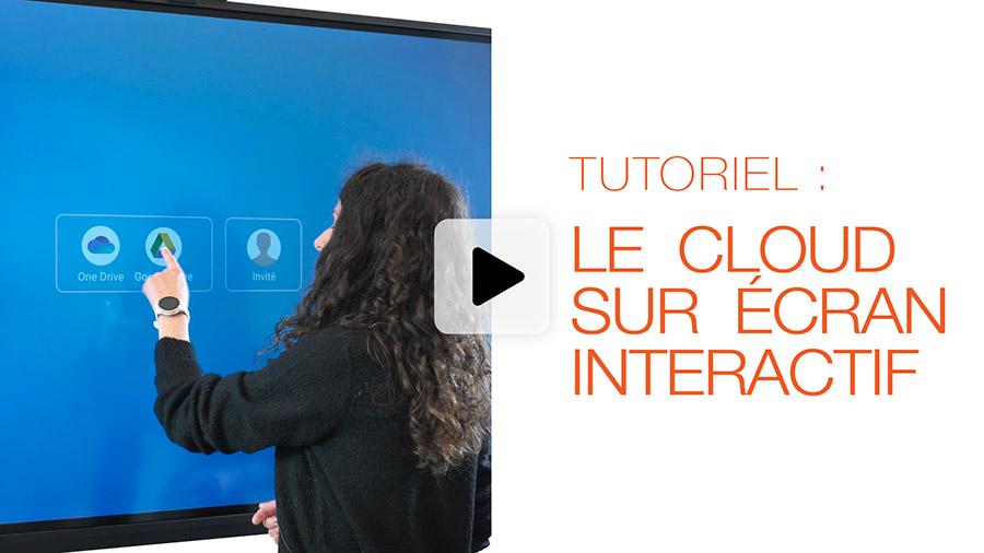 tutoriel vidéo Speechi : cloud sur écran interactif