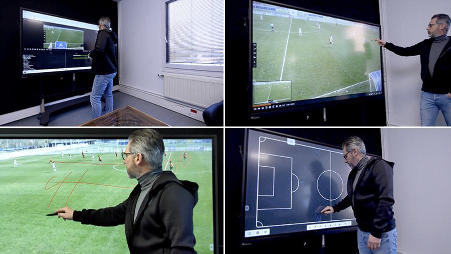 écran tactile comme outil pédagogique pour le visionnage vidéo de matchs et entraînements