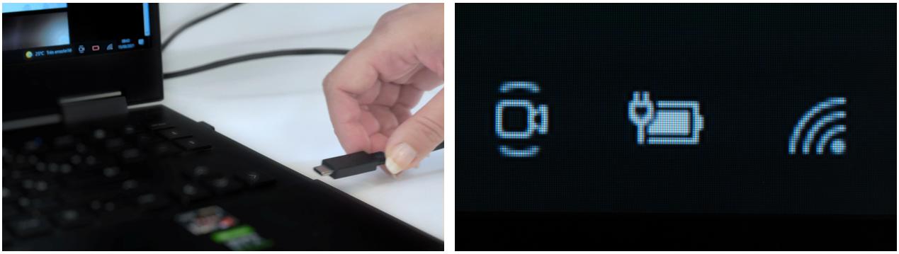 charge ordinateur via usb c sur écran interactif