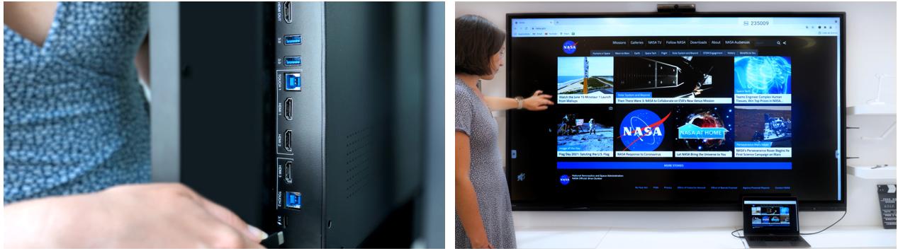 projection contenu ordinateur vers écran tactile