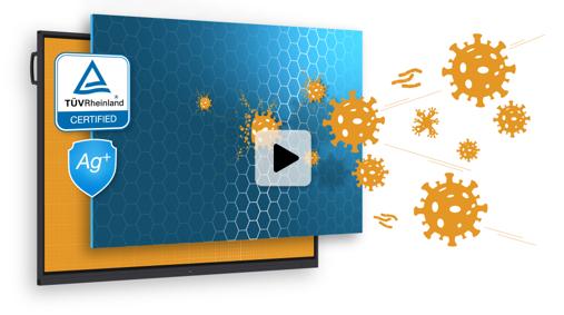 comparatif écran interactif anti germes