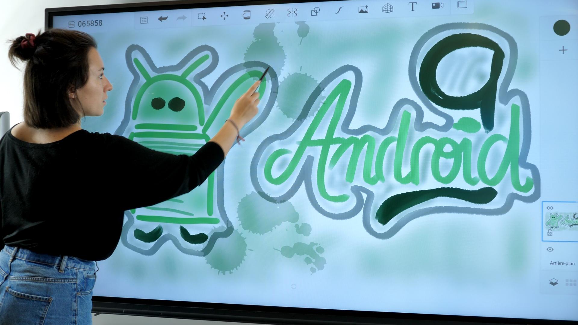 écran interactif avec puce android 9