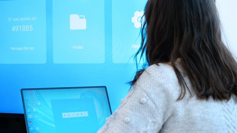 ScreenShare sur l'écran d'affichage SpeechiDisplay