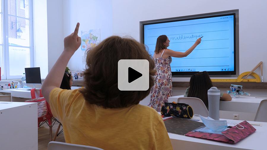 Vidéo écran interactif école