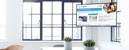 écran interactif pour faire de l'affichage dynamique ou digital signage